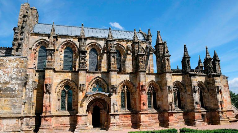 The Rosslyn Chapel near Edinburgh. Pic AP