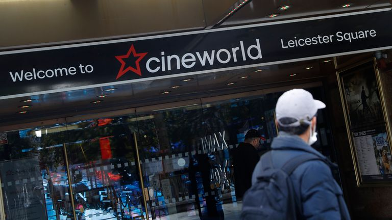 Cineworld blamed a lack of movie releases during the pandemic for its decision to shut screens last October. Pic: AP