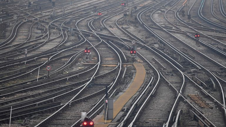 Rail tracks are seen as strikes continue on the Southern rail network, at Clapham Junction in London, Britain, December 16, 2016