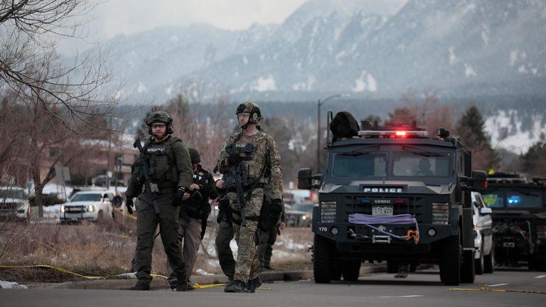 Boulder police. Pic: AP