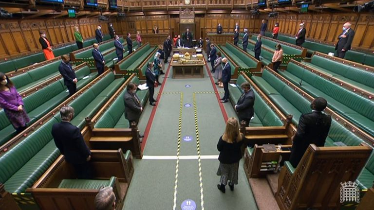 MPs observe a minute's silence in House of Commons