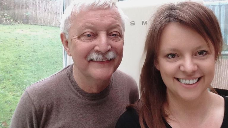 Emma Whittle and her father Peter, who are in Cheshire, on a street that has found a new togetherness during the lockdowns