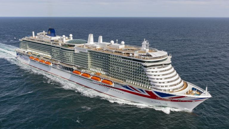 Undated handout photo issued by P&O of their new cruise ship Iona, the largest cruise ship built for the UK market at 185,000 tonnes, 345 metres long and with 17 passenger decks.