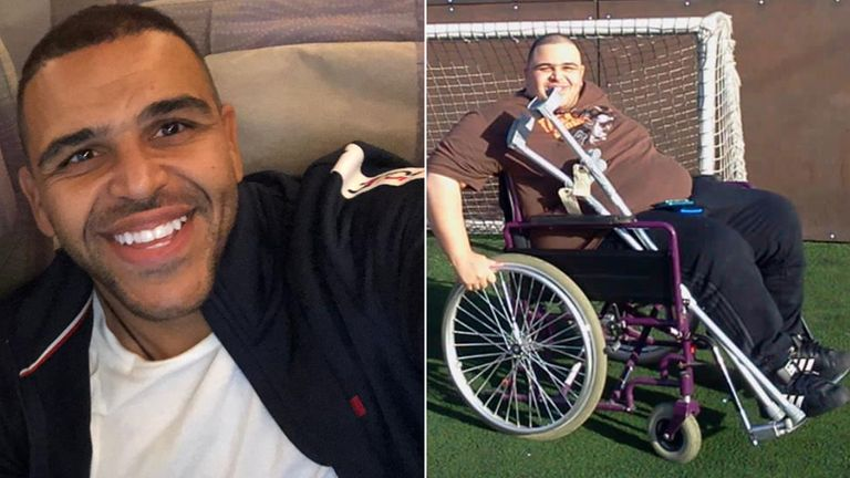 Darren Awol was left paralysed from the waist down after being shot in the back in 2011