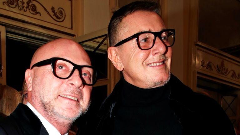 Italian designers Domenico Dolce and Stefano Gabbana
