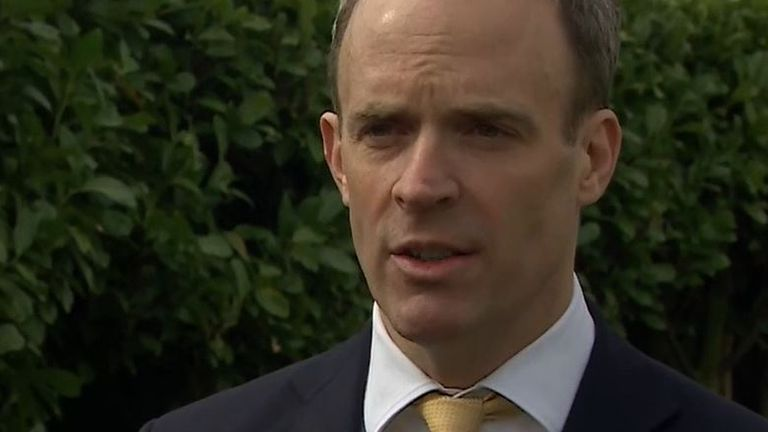 Dominic Raab responds to China 'sanctions'