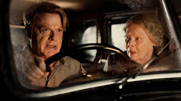 Eddie Izzard and Judi Dench in Six Minutes To Midnight. Pic: Six Minutes To Midnight/Sky Cinema/Lionsgate