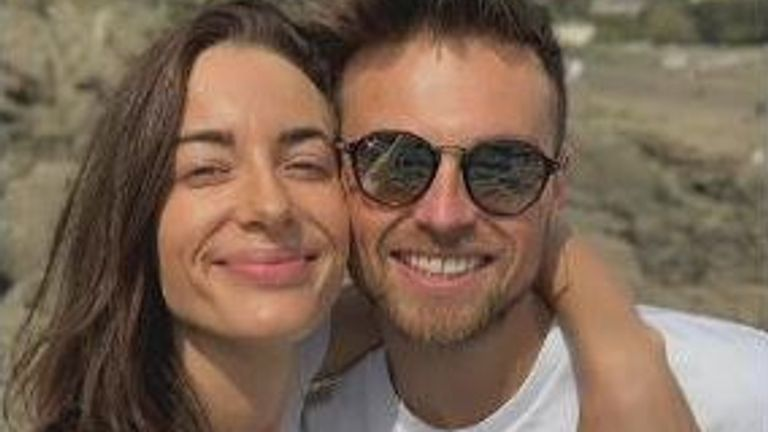 Emily Hartridge, who died in a crash as she rode an e-scooter, pictured with her boyfriend Jake Hazell
