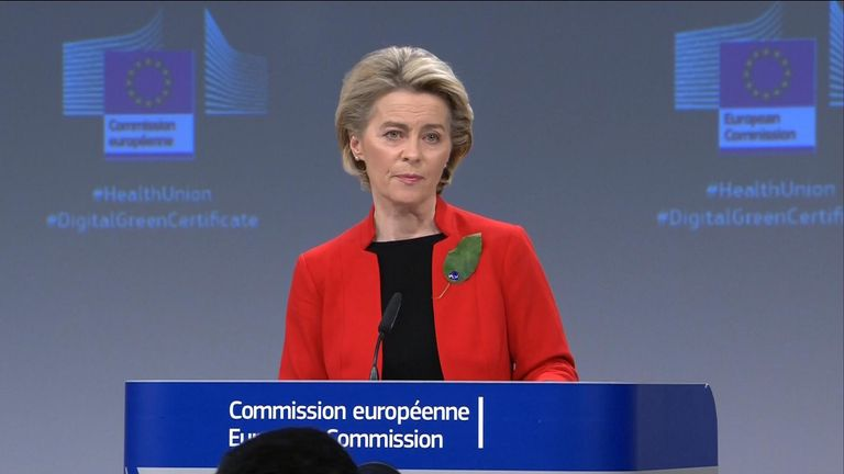 EU Commission President Ursula von der Leyen hinted that measures could be taken if the UK didn't reciprocate on vaccine distribution.