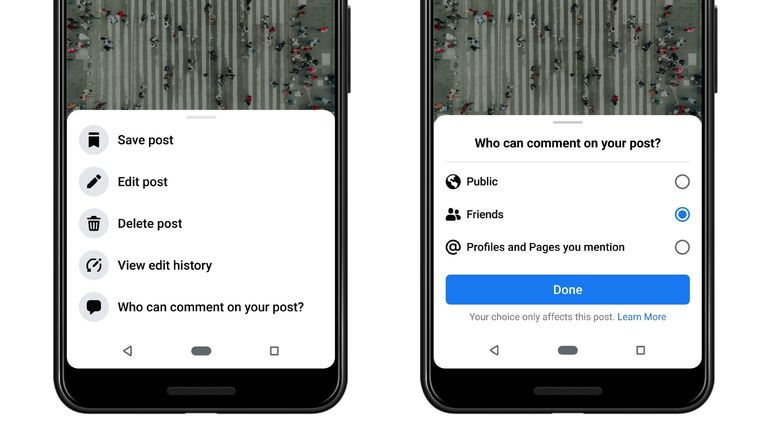 Facebook is also introducing new controls over who can comment on posts