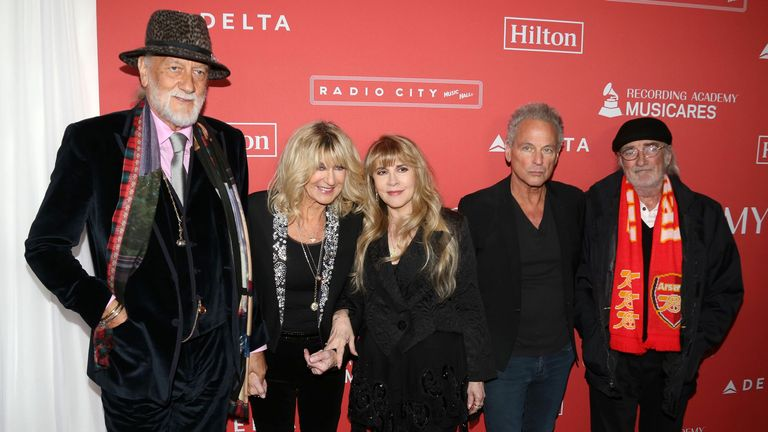 Fleetwood Mac pictured in New York in 2018