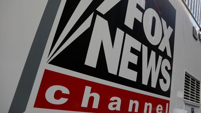 A Fox News channel sign