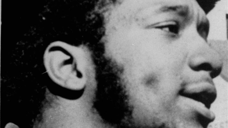 Fred Hampton at a protest rally in Chicago in 1968. Pic: AP