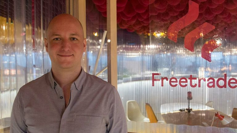 Freetrade founder Adam Dodds Pic: Freetrade