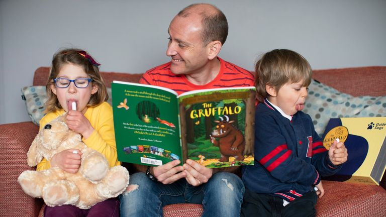 """Roger Whalley said the kit was """"fantastic"""" because his daughter Josie and son Wolf both enjoy the book."""