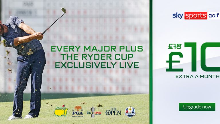 Every major plus the Ryder Cup exclusively live