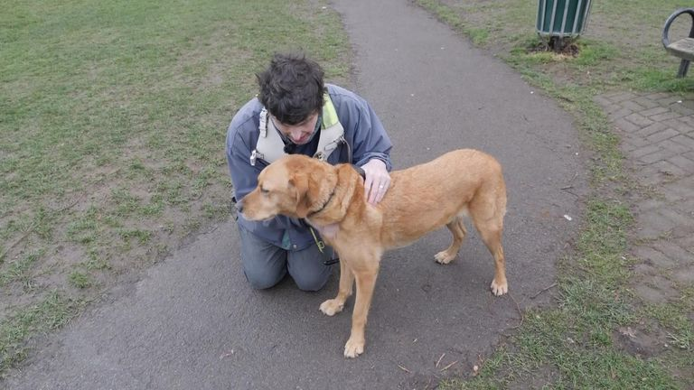John Garrett has had a guide dog since he lost his vision at the age of 23