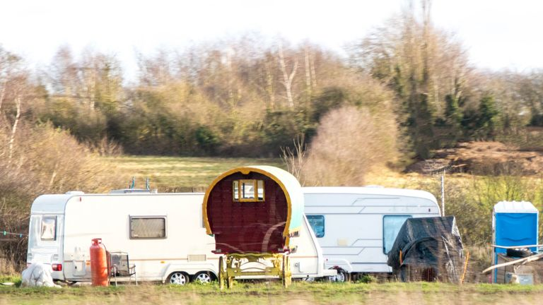 A Gypsy camp site. Pic: istock