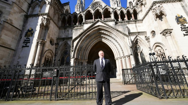 The case is being heard at the Royal Courts of Justice in London