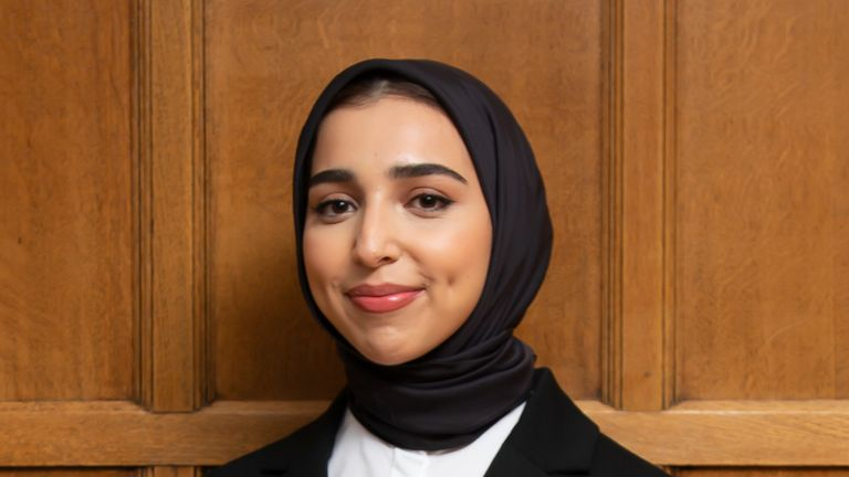 white Hijab barrister Ivy & Normanton. Pic Ivy & Normanton w