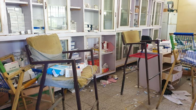 An abandoned central pharmacy at the Humera Hospital in Tigray, Ethiopia (Pic: Medecins Sans Frontieres/via Reuters)