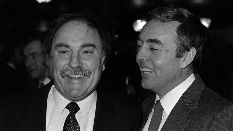 St John presented a TV show with Jimmy Greaves - pictured together in 1986