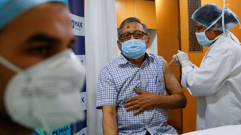More than 35 million people in India have been vaccinated with a single dose