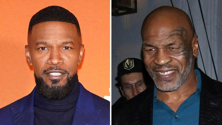 Jamie Foxx (L) has been cast as Mike Tyson in the show