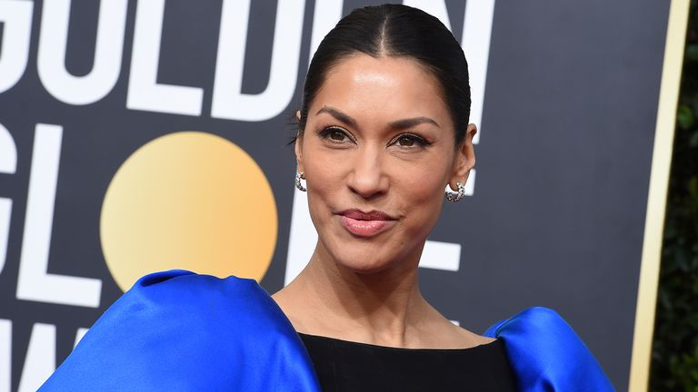 Actress Janina Gavankar has defended Meghan. Pic: Jordan Strauss/Invision/AP