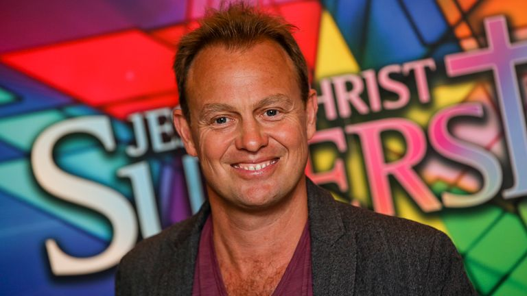 Jason Donovan at the opening night of Andrew Lloyd Webber's revamped production of Jesus Christ Superstar at the O2 in 2012. Pic: AP