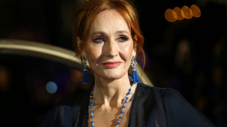 JK Rowling has faced fierce criticism online for her stance on trans people. Pic: AP
