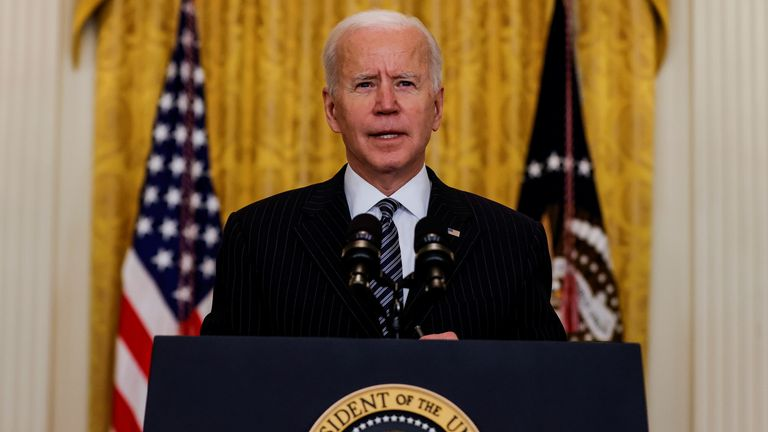 Joe Biden says that 100 million Americans will have been vaccinated by Friday