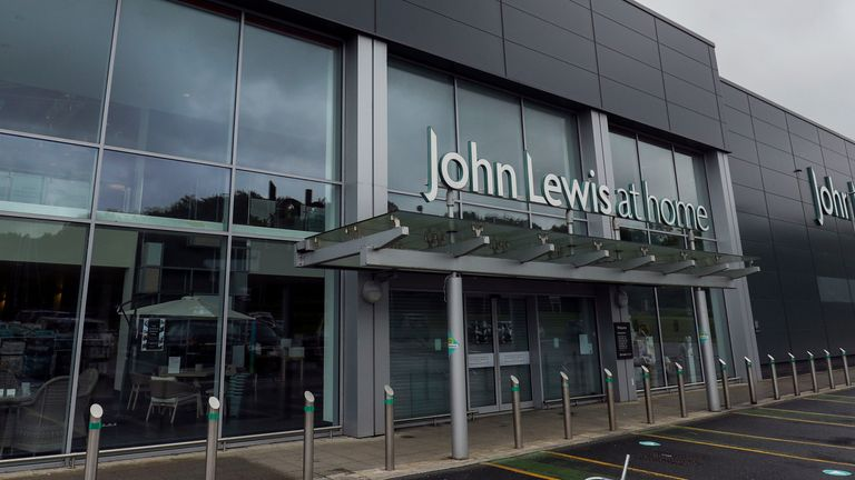 The John Lewis At Home store in Swindon which due to close 9/7/20