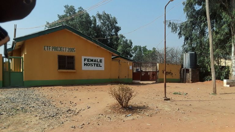 A view shows one of the hostels where gunmen abducted students