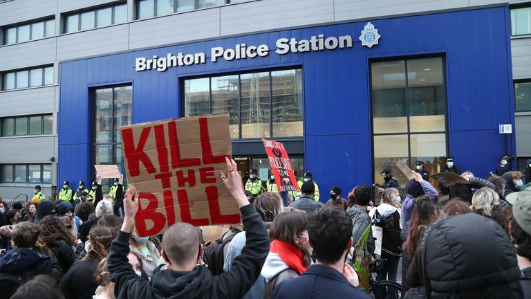 Kill The Bill protests took place in cities such as Brighton, Manchester and Sheffield on Saturday