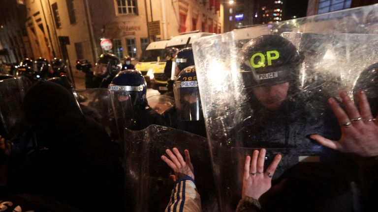 Protesters splintered down various roads - and some were intent on clashing with officers