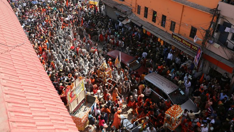 Only a fraction of the number of devotees expected at later stages gathered for the first holy bath of this year's Kumbh Mela earlier in March