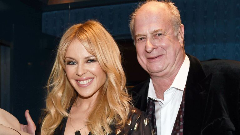 Australian Music Vault launch in 2017 - patrons Molly Meldrum, Kylie Minogue and Michael Gudinski. Pic: Jim Lee Photo/Shutterstock