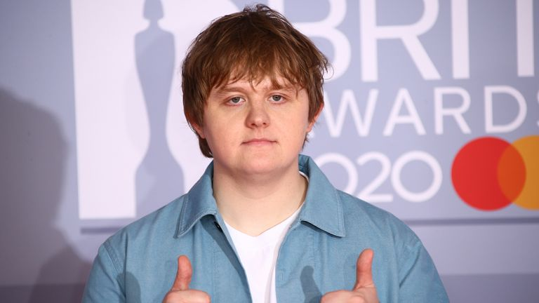 Lewis Capaldi at the Brit Awards 2020 in London. Pic: AP