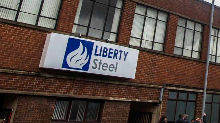 Liberty Steel after a ceremony where Tata Steel has handed over the keys of two Lanarkshire steel plants to metals firm Liberty House, at Dalzell steelworks in Scotland.