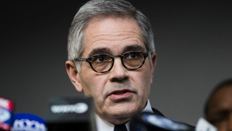 Pennsylvania District Attorney Larry Krasner, pictured, has been called on to investigate law enforcement over the death of Mr Longenecker. Pic: AP