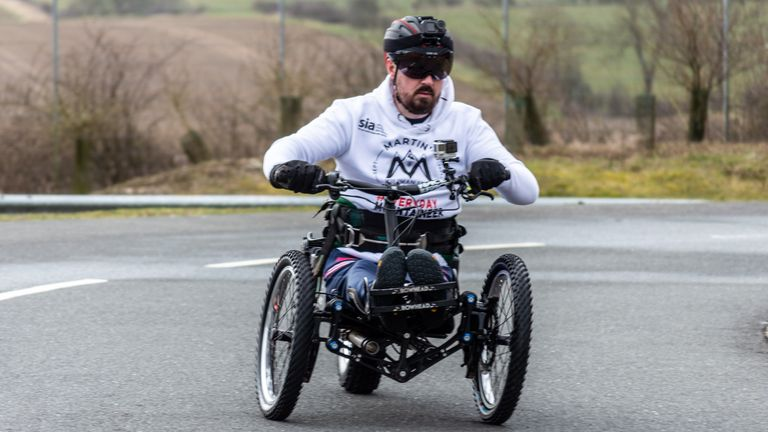Martin Hibbert plans to take a Paralympic torch to the summit of Mount Kilimanjaro in Tanzania, Africa