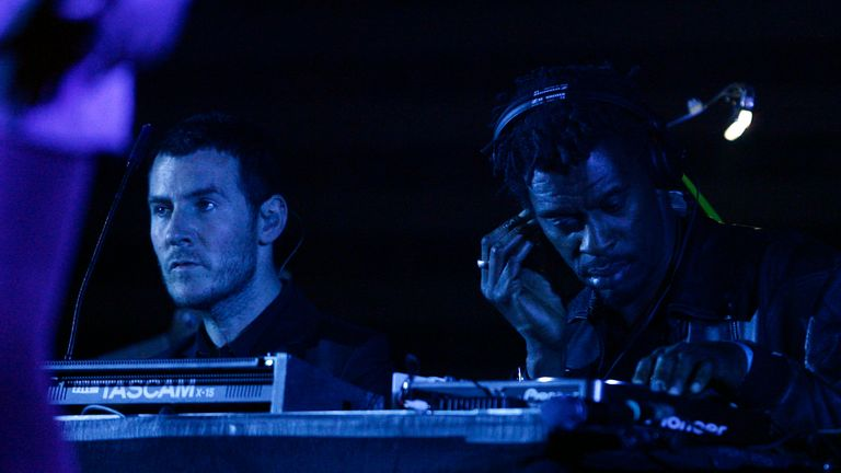 Massive Attack's Robert Del Naja (left) and Daddy G performing in 2008