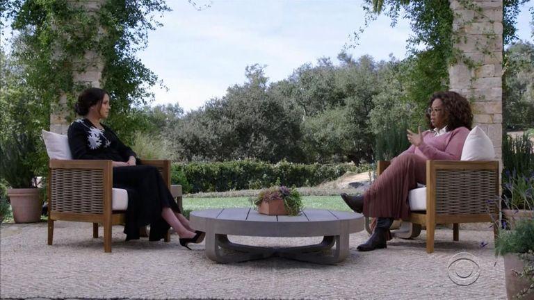 مگان در طول مصاحبه خود با اپرا.  عکس: CBS