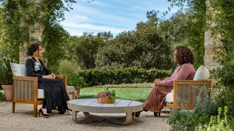 Meghan, Duchess of Sussex gives an interview to Oprah Winfrey