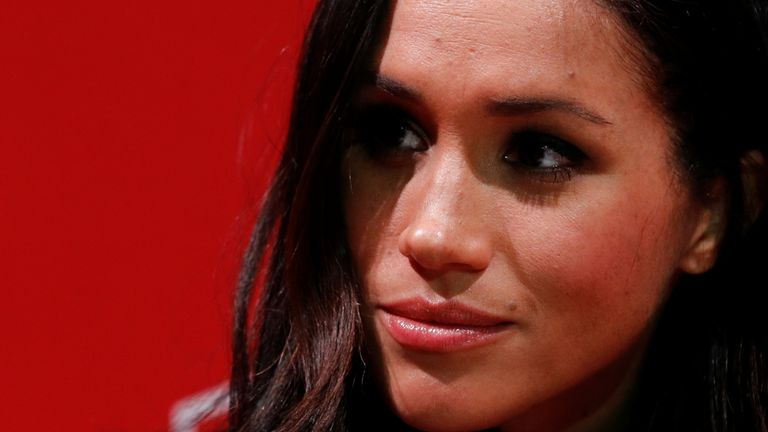 Meghan Markle visits the Terrence Higgins Trust World AIDS Day charity fair at Nottingham Contemporary with her fiancee Britain's Prince Harry, in Nottingham
