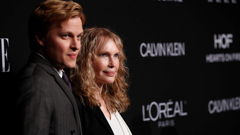 Mia Farrow and her son Ronan Farrow at the ELLE Women in Hollywood awards in Los Angeles in 2018