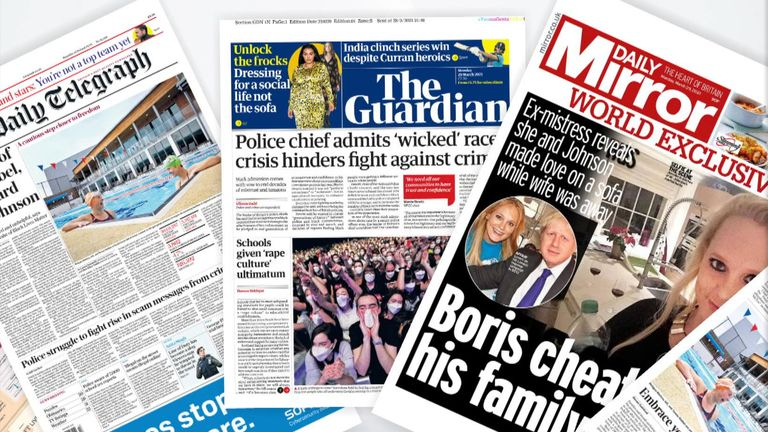 Monday's papers