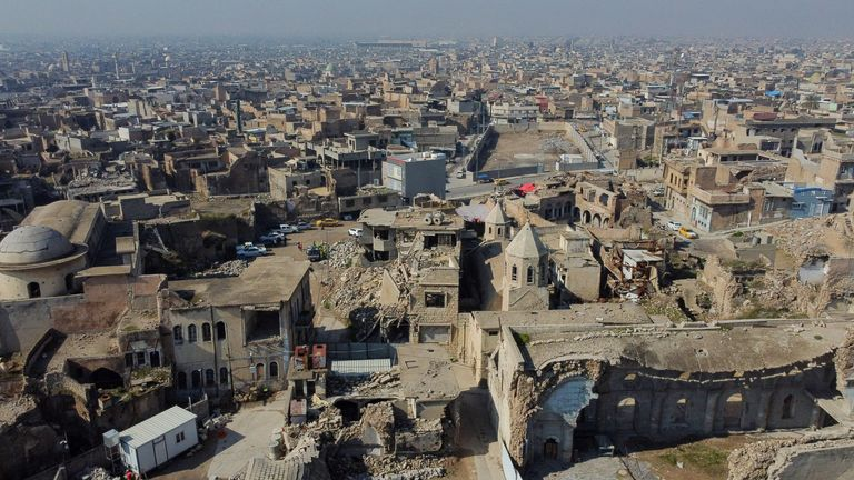 The Pope will visit the city of Mosul which was the capital of the so-called Islamic State
