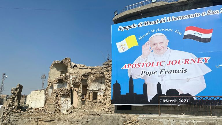 The Pope will finish his trip in Mosul